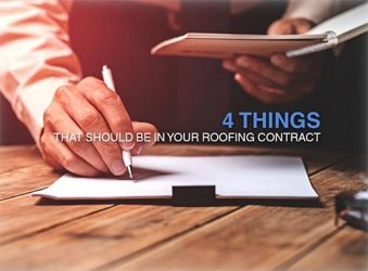 4 Things That Should Be in Your Roofing Contract